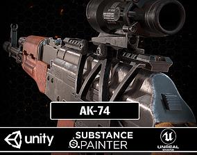 3D model game-ready AK-74