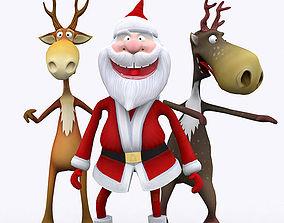 animated 3DRT - Crazy Santa