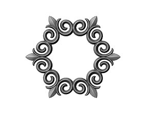 3D printable model Hexagonal floral decoration element
