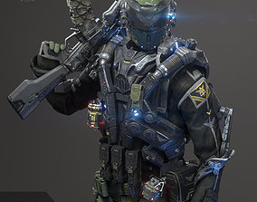 SCIFI - RECON SOLDIER 3D model