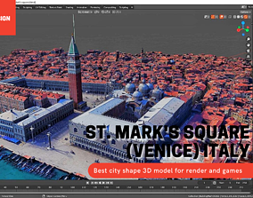 St Mark square Venice ITALY with texture 3D asset