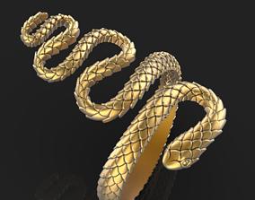 3D print model rings snake ring