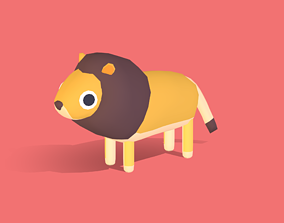 Leo the Lion - Quirky Series 3D asset
