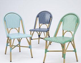 3D Salcha Indoor Outdoor French Bistro Side Chair