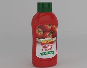 Ketchup Bottle fridge 3D model
