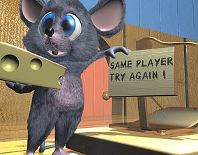 3D model Cartoon Mouse Rigged
