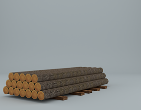 tree Wooden Logs Low-poly 3D model low-poly