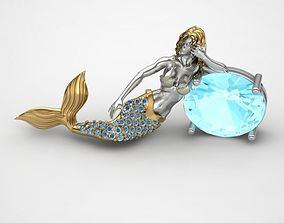 3D print model Mermaid Pendant NO 3