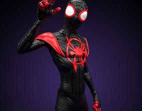 Fanart Miles Morales - Spiderman into 3D printable model 2