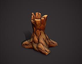 3D model Wood vase