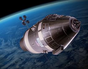 3D asset Apollo command and service module