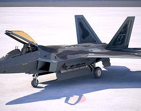 Lockheed Martin F22A Raptor JSOH 3D model