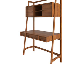 Mid-Century bookshelf - drawer 2 3D asset