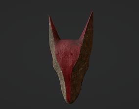 Carved Wooden Hound Mask 3D model