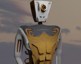 space robot 3D asset rigged