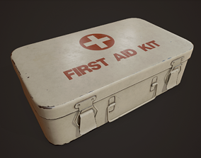 3D asset realtime Vintage First Aid Kit - PBR Game Ready