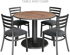VR / AR ready Rouen Restaurant Table and Chair 3d model