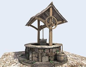 3D model medieval water well