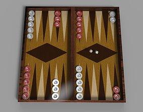 3D model backgammon game