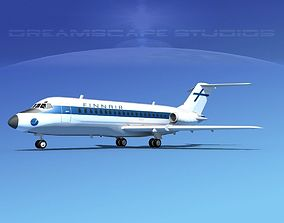 Douglas DC-9-15 Finnair 3D model