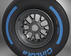 F1 tyre wet front 3D