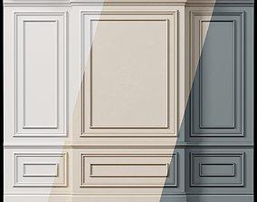 Wall molding 4 Boiserie classic panels 3D asset