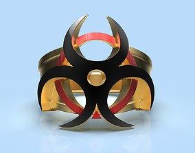 Ring biohazard 3d model for printing