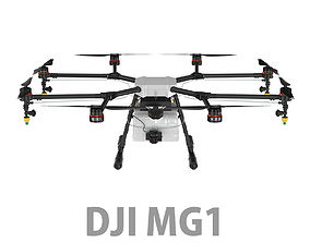 3D DJI Agras MG-1 Agricultural Drone