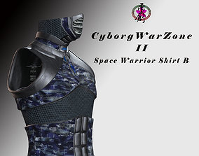 3D asset Cyborg Warzone - Space Warrior Shirt B
