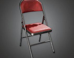 HLW - Folding Chair 02 - PBR Game Ready 3D asset