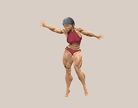 Beautiful Bodybuilder girl stand poses 3D print model