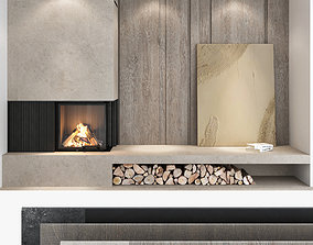 3D Fireplace and Firewood set 03