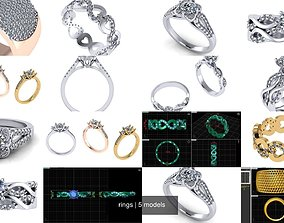 fashion 3D rings