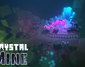 3D asset Crystal Mine