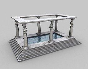 Ancient bath 3D asset