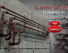 3D model Rusty Plumbing Pipes