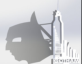 Bat Man Shadow 3D print model 3dprint