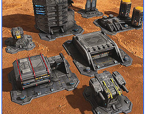3D model SciFi Base Pack 01