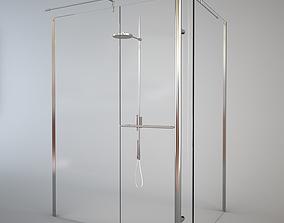 TDA Still Angolo Shower Cabin and Fantini Zen 3D model
