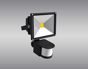 LED Floodlight with Motion Sensor 3D asset