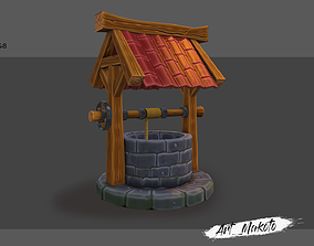 3D asset game-ready Stylized Well