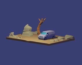 LOW POLY ISOMETRIC MODEL DESERT