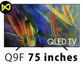 Samsung Q9F 75 Inch QLED 4K TV 3D model