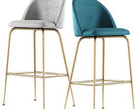 POLLY velvet counter stool 3D model