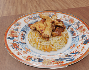 3D Scan traditional turkey rice food
