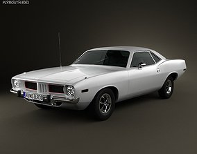 Plymouth Barracuda hardtop 1974 3D model