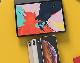 iPhone XS Max and iPad Pro 2018 Bundle With All 3D model