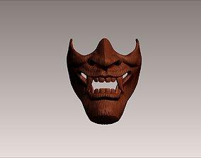 3D print model japanese hannya demon woman noh opera wood
