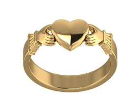 3D printable model romance claddagh ring