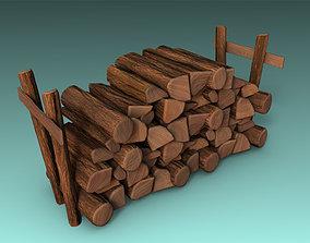 3D asset low-poly Firewood